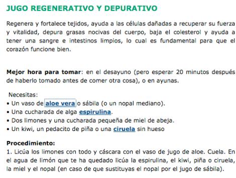 Jugo Regenerativo y Depurativo