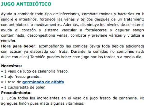 Jugo Antibiótico